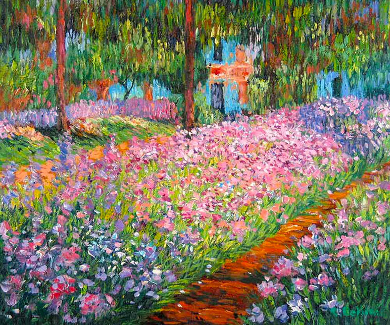 Monet - Garden At Giverny
